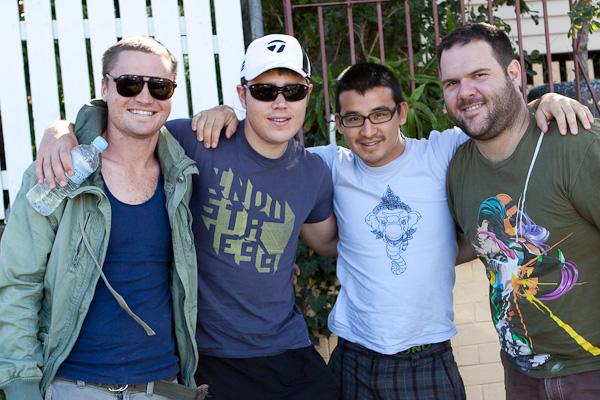 Me, Brendan, Mark & Mark (courtesty of @marklobo)