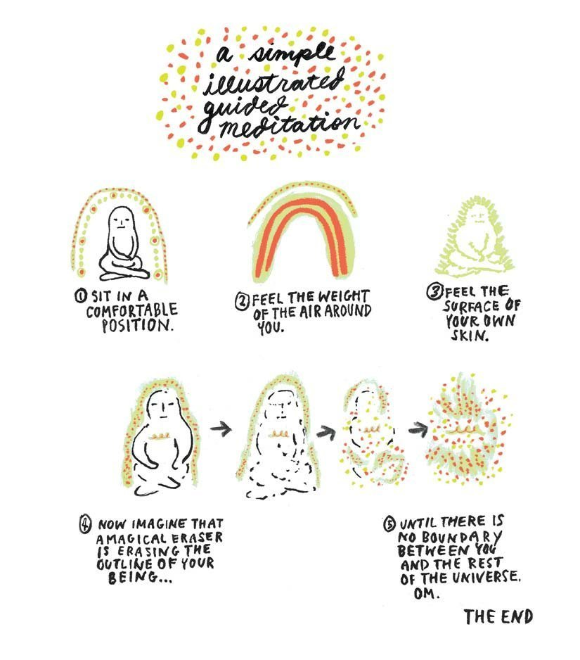 A simple illustrated guided meditation