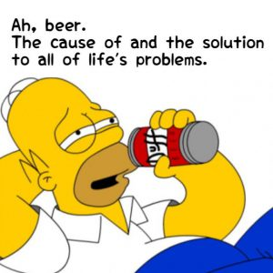 Homer Simpson doesn't drink mindfully
